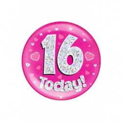 Button 16 TODAY pink