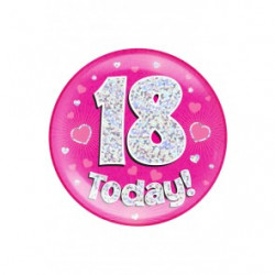 Button 18 TODAY pink