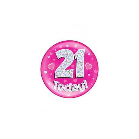 Button 21 TODAY pink