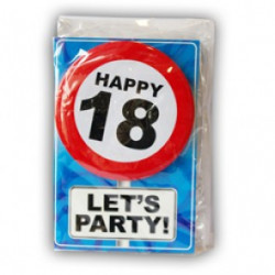 Happy age card 18 jaar