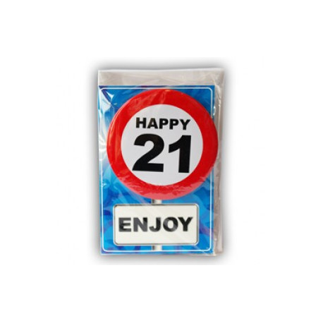 Happy age card 21 jaar