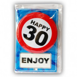 Happy age card 30 jaar